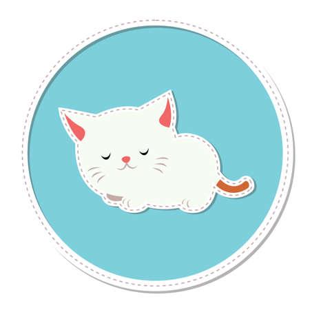 cat sleeping: Cat sleeping Illustration