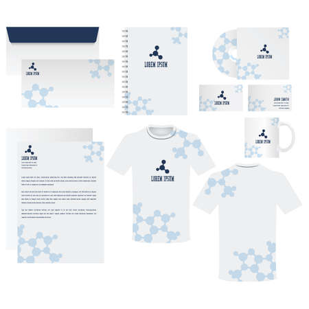 with sets of elements: Corporate identity elements