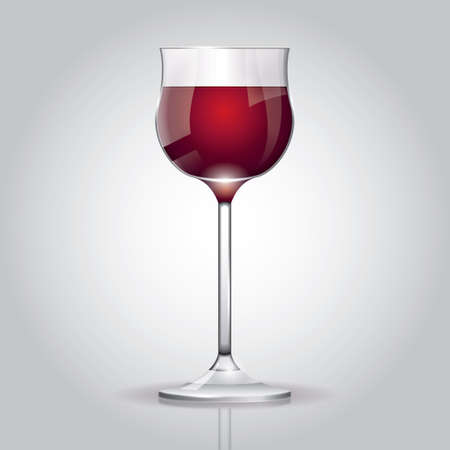 red wine glass: Red wine glass Stock Illustratie