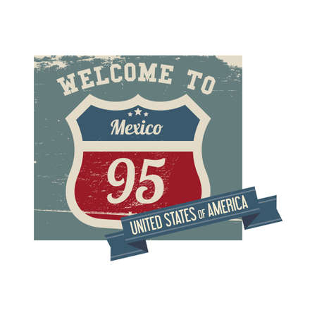 95: Mexico route 95 label