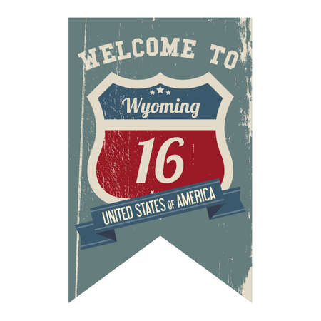 wyoming: Wyoming route 16 label