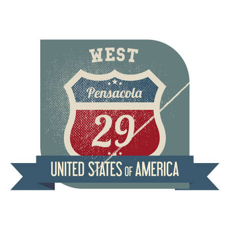 pensacola: West pensacola route 29 label