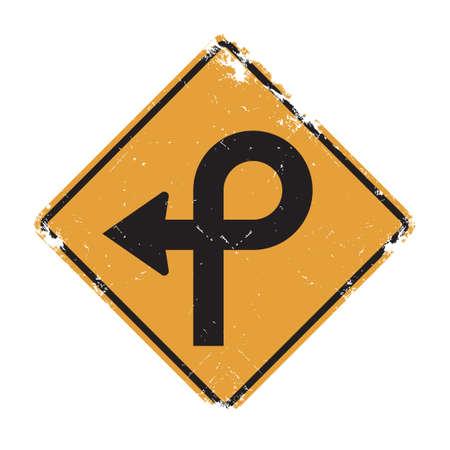 pętla: Pretzel loop sign