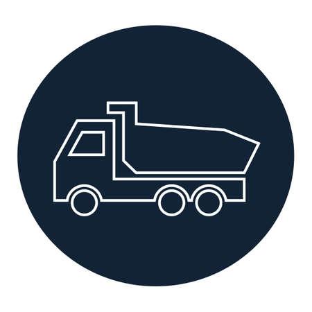 camion volquete: Icono de carro de descarga Vectores