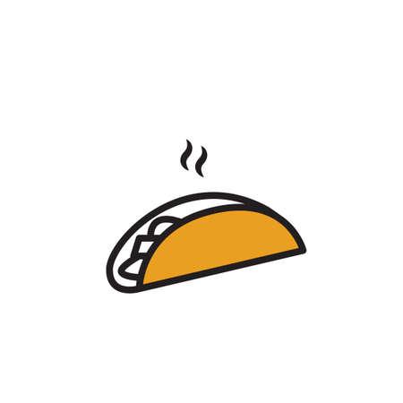 wrap: Hot pita bread wrap Illustration