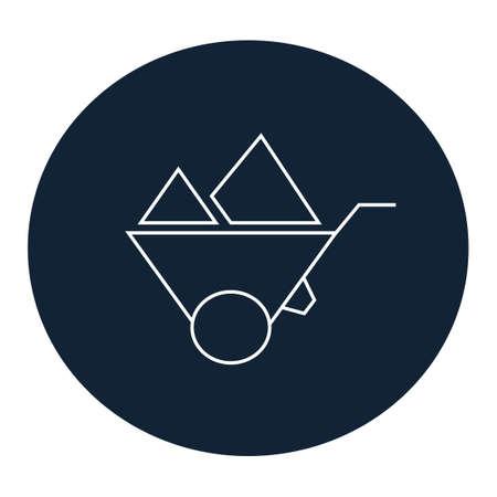 carretilla: Icono de la carretilla