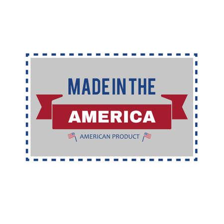 em: Made in the USA label design Ilustra��o