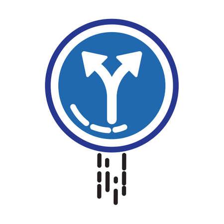 freccia destra: A sinistra oa destra freccia segno ausiliario