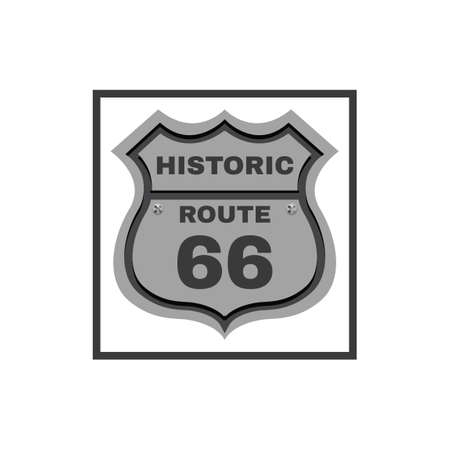 Historic route highway shield