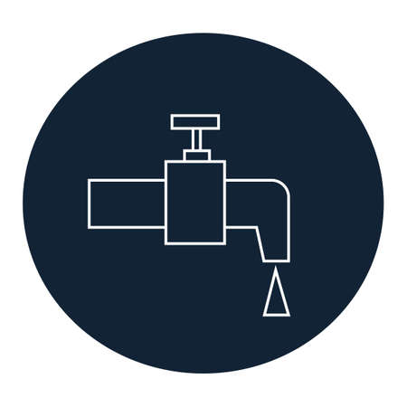 water tap: Water tap icon Illustration