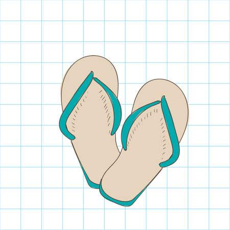 sandalias: Sandalias de la playa