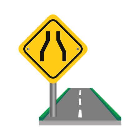one lane street sign: One lane road sign