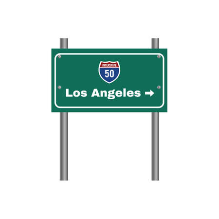 interstate: Two-digit interstate route shield, Los Angeles Illustration