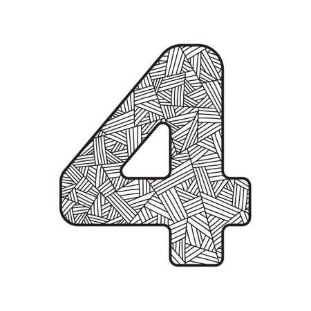 numerical value: Number four
