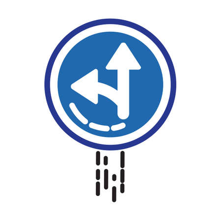 the motorists: Left or straight arrow auxiliary sign