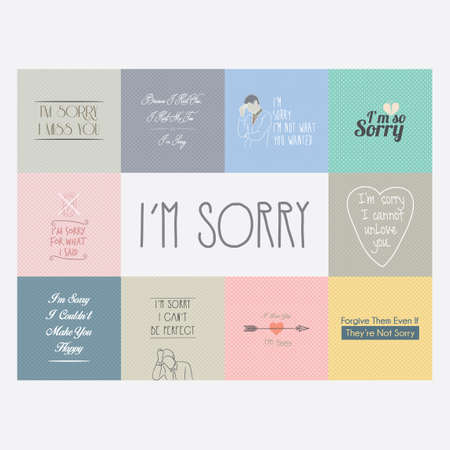 phrases: Collection of sorry phrases