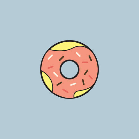 Donut coated with sprinkles