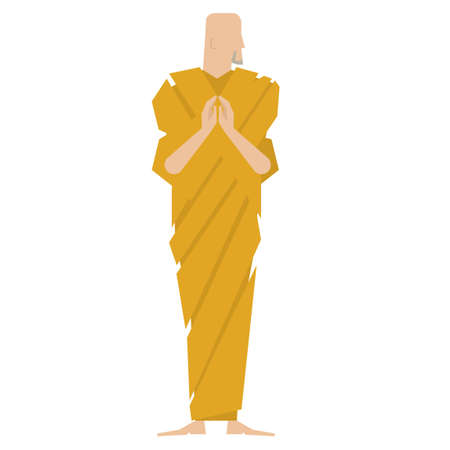 folded hands: Monk
