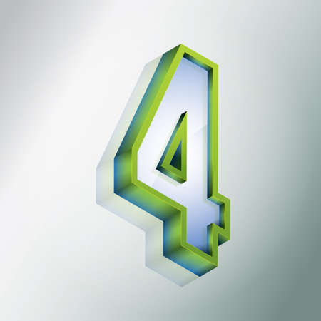 3 dimensional: Isometric number 4