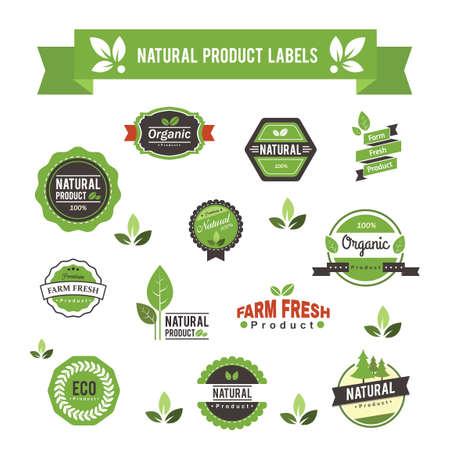 Natuurlijk product labels