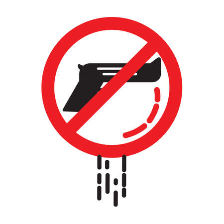 prohibitive: No weapon sign