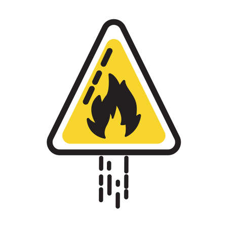 flammable: Flammable sign Illustration