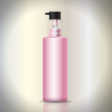 cleanliness: Cosmetic pump bottle Illustration