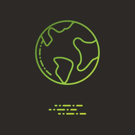 green globe: Green globe
