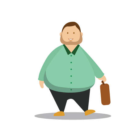 guy standing: Man holding suitcase Illustration