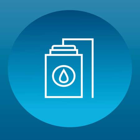 dep�sito agua: Tanque de agua con gota de agua Vectores