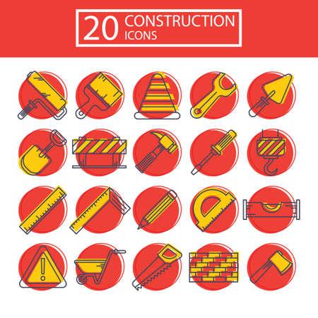 spirit level: Set of construction icons Illustration