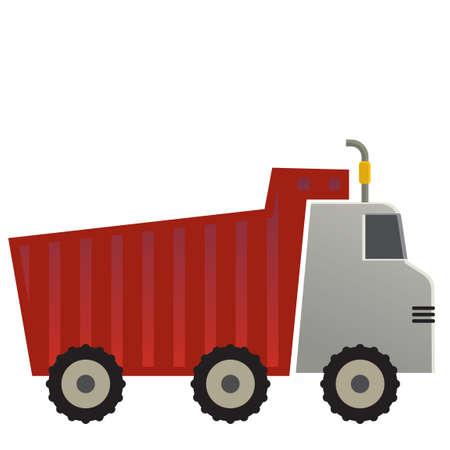 camion volquete: Carro de descarga