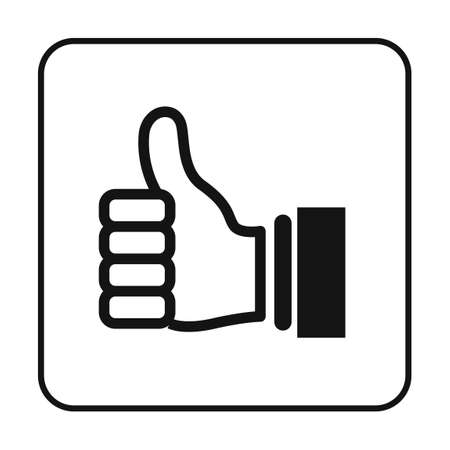 Thumbs up icon Illustration