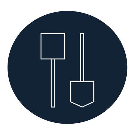 spade: Shovels and spade icon Illustration