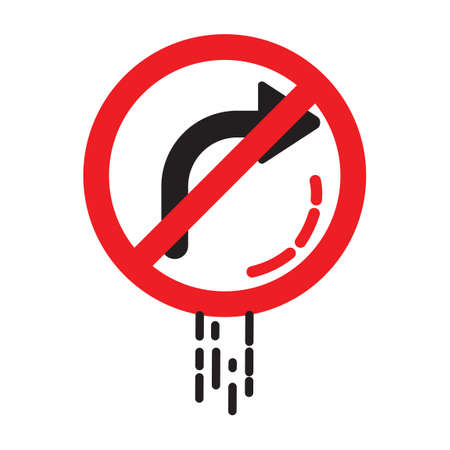 prohibitive: No right turn sign