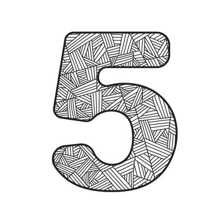 numerical value: Number five