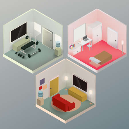 livingroom: Isometric rooms
