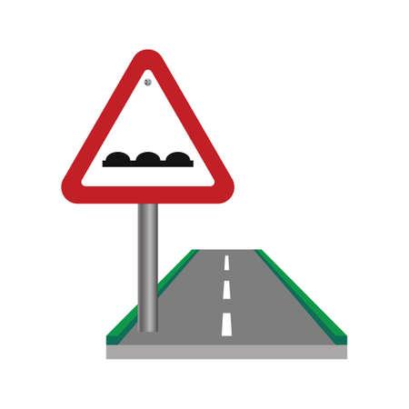 uneven: Uneven road sign Illustration