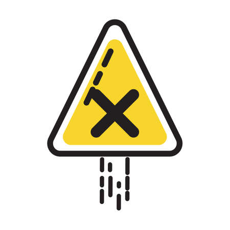 precautions: X road sign Illustration