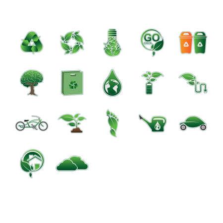 international recycle symbol: Set of eco-friendly icons