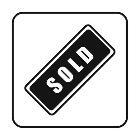 sold sign: Sold sign Illustration
