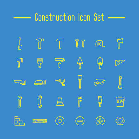 spirit level: Construction icon set
