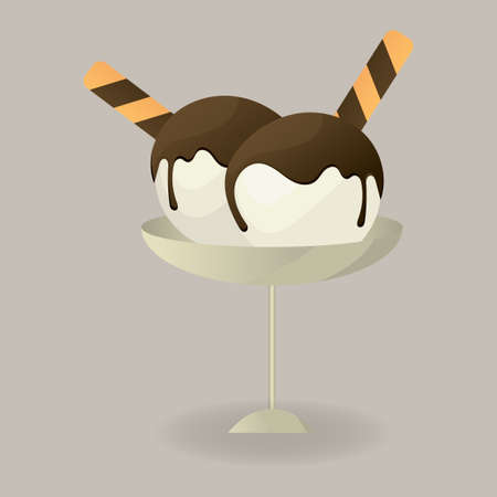 coppa di gelato: sundae Gelato con lettere d'amore