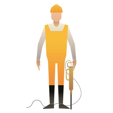 jackhammer: Man holding jackhammer