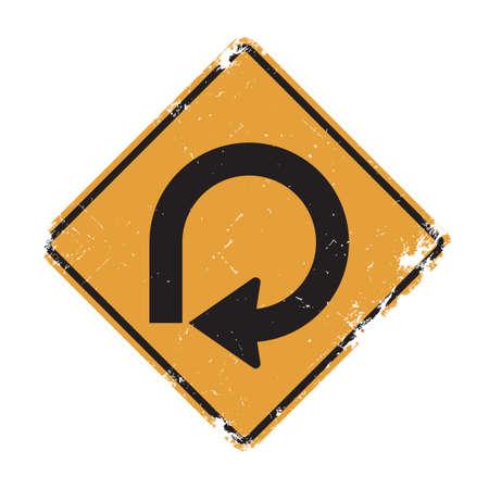 slow lane: 270 degree loop sign