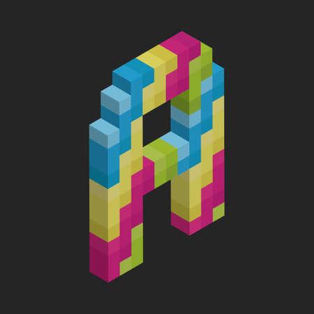 vowel: Isometric alphabet A