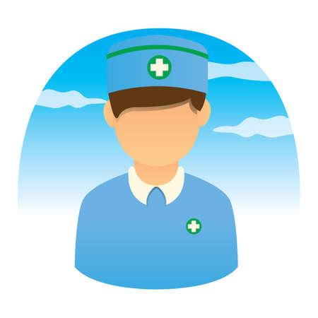 medical headwear: Male nurse