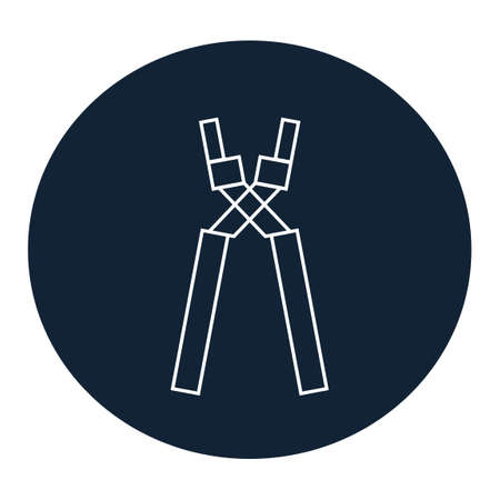 nipper: Pliers icon Illustration
