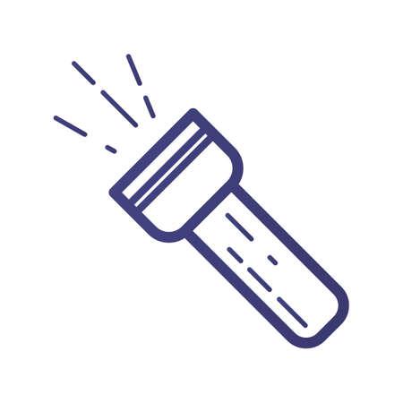 button batteries: Flashlight Illustration