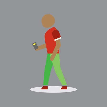 man holding: Man holding mobile